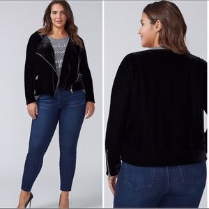 Lane Bryant | Black Suede Motto Jacket